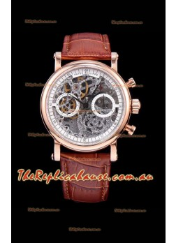 Patek Philippe Complications Skeleton Chronograph Timepiece in Rose Gold